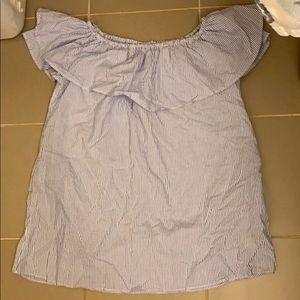 Zara off the shoulder tunic top